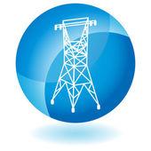 Power Line — Stock Vector