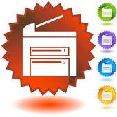 ícones de impressora — Vetor de Stock