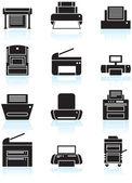 Icônes d'imprimante — Vecteur
