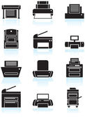 Printer Icons — Vetorial Stock