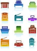Printer Icons — Stock Vector