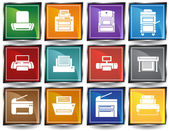 Printer Icons — Stock Vector