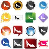 Pump Shoe Variety Set — Stock Vector