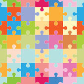 Puzzle Pieces Pattern — Vettoriale Stock