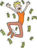 Raining Money — Stock Vector