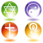 Religious Buttons — Stock Vector