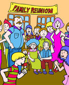 Family Reunion — Stock Vector