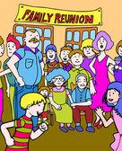 Family Reunion — Stock Vector