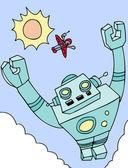 Flying Giant Robot — Stock Vector
