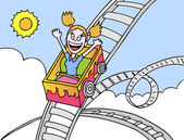 Rollercoaster Ride — Vector de stock