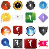Rush Step Dancer Variety Set — Stock Vector