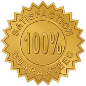 100% Satisfaction — Stock Vector