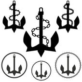Set of Anchors — Stock Vector