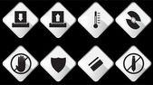 Shredder Icons — Stock Vector