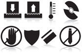 Shredder Icons — Stock Vector