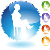 Sitting Concept Crystal Icon — Stock Vector
