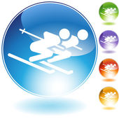 Ski Pair — Stock Vector