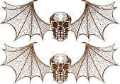 Winged Skeletons — Stock Vector