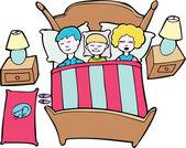 Spanie z rodziny — Wektor stockowy
