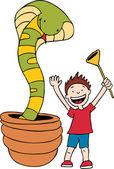 ヘビ使い — ストックベクタ