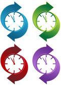 Spinning klocka — Stockvektor