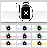 Square web buttons - Spray — Stock Vector