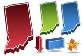 Indiana 3D — Stock Vector
