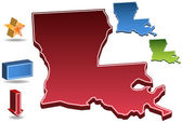Louisiana 3D — Stock Vector