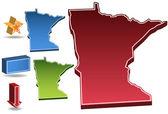 Minnesota 3D — Stock Vector