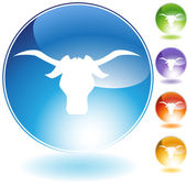 Steer Crystal Icon — Stock Vector