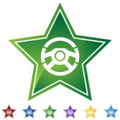 Steering Wheel — Stock Vector