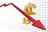 Financial Crash — Stock Vector