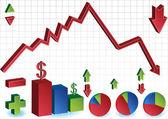 Financial Crash and Rebound — Stock Vector