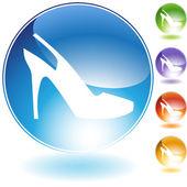 Strap Shoe Crystal Icon — Stock Vector