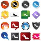 Sangle chaussure variété ensemble — Vecteur