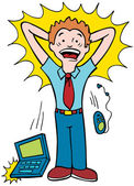 Stressed Worker — Stock Vector
