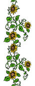Repeating Sunflower Banner — Stockvector