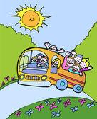 Sunshine Bus — Stock Vector