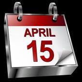 Tax Deadline Calendar — Stock Vector