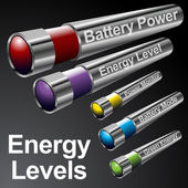 Energy Battery Menu Bars — Stock Vector
