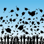 Students Graduating — Vetorial Stock
