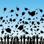 étudiants diplômés — Vecteur