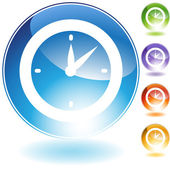 Clock Timer Crystal Icon — Vettoriale Stock