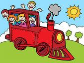 Child Train Ride — Stock Vector