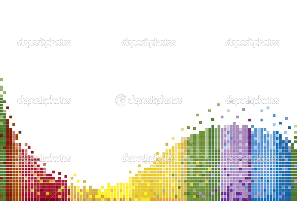 Rainbow pattern with white background. — Stock Vector #3990015
