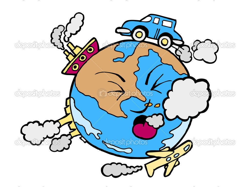 Cartoon image of global pollution. — Stock Vector #3990098