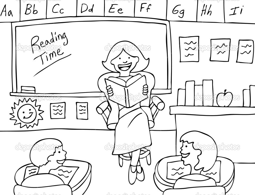fun classroom coloring pages - photo #34