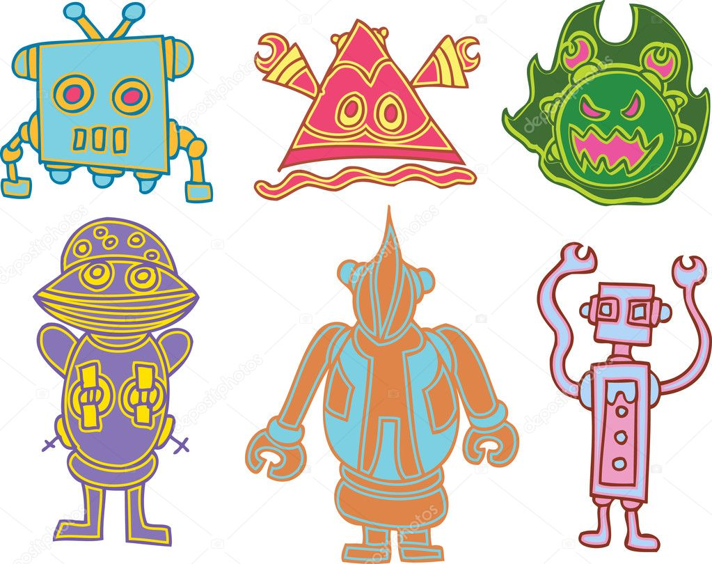 An image of funny alien creatures. — Stock Vector #3990433
