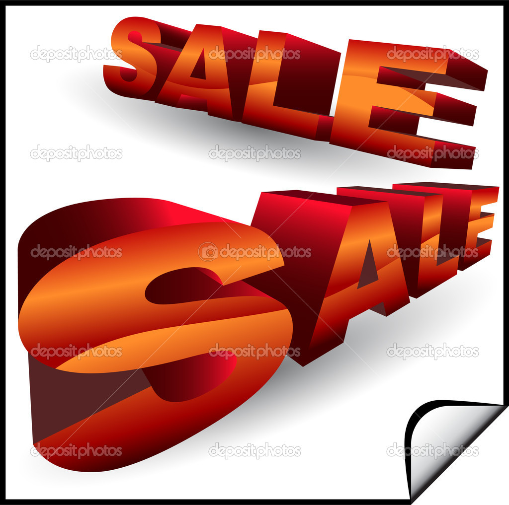 A set of 3D sale signs. — Stock Vector #3990540