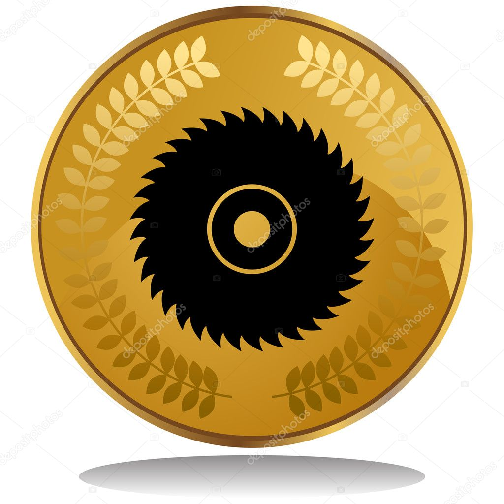 An image of a saw blade. — Stock Vector #3990570